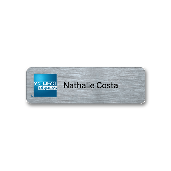 Staff name badge by Fattorini
