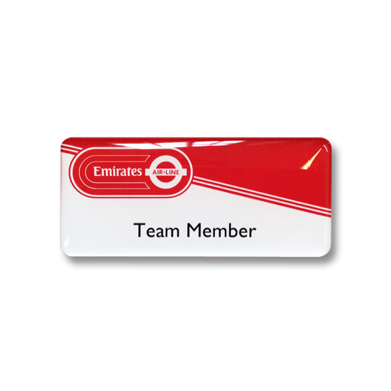 Emirates Airline name badge by Fattorini