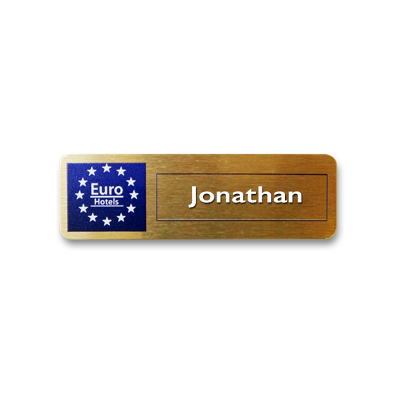 Euro Hotel Name badge by Fattorini