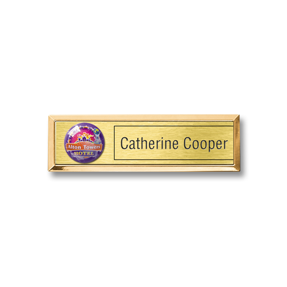 Re usable theme park, staff name badge