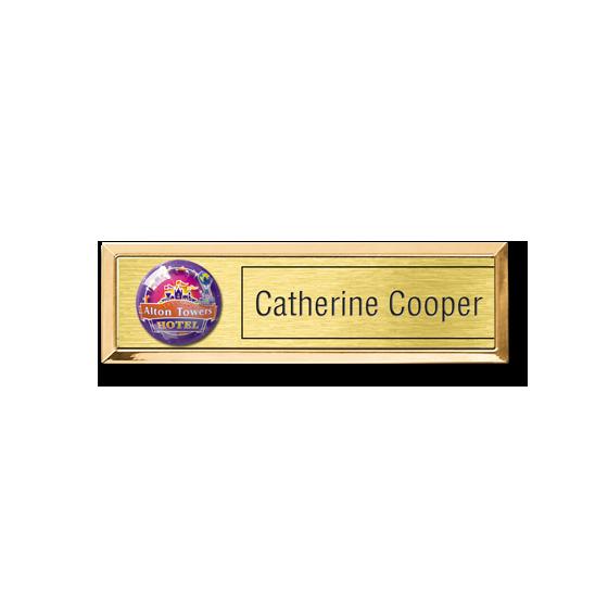 Re usable theme park, staff name badge