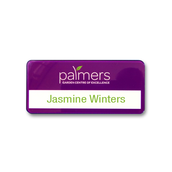 Re usable garden centre name badges - Slim line