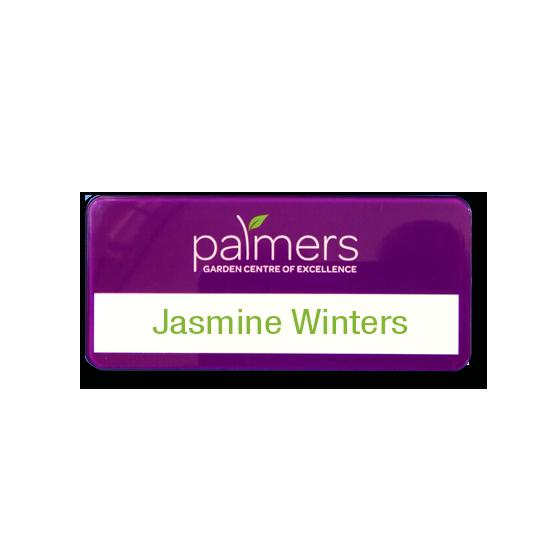 Re usable garden centre name badges - Slim line