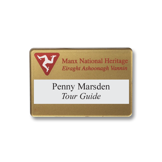 Re usable tour guide name badges - Slim line