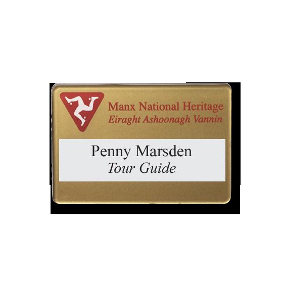 Re usable tour guide name badges - Slim line