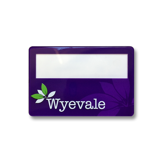 Re usable staff name badges - Slim line