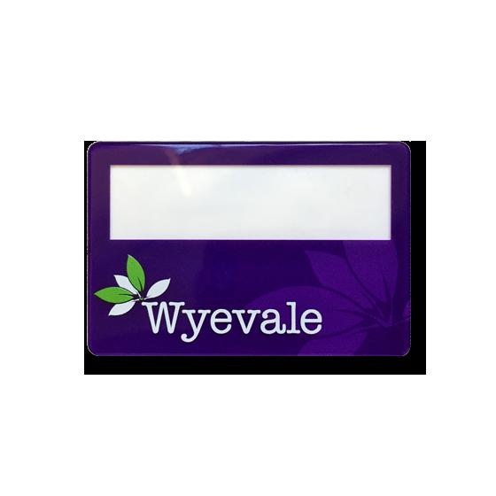 Re usable staff name badges - Slim line