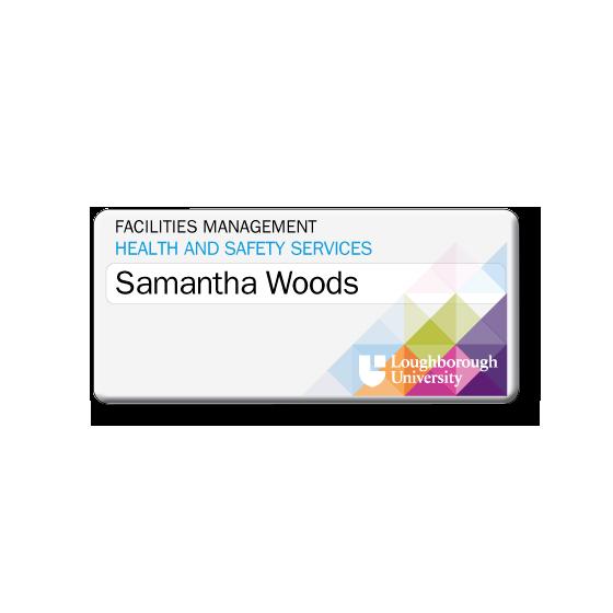 Re usable university staff name badges - Slim line