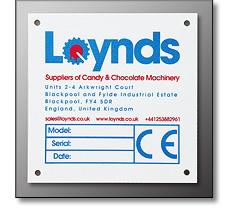 Machinery name plate
