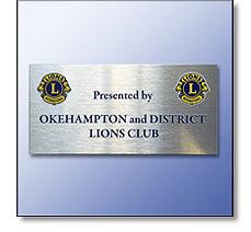 Lions club plaque