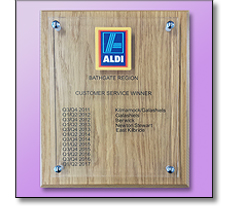 Customer service plaque