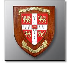 Wooden university shield