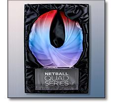 Acrylic Netball Trophy Quad Series