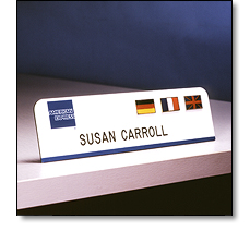 American Express desk plate