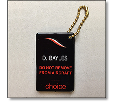 TAG for airline crew