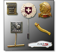Various Long service pins