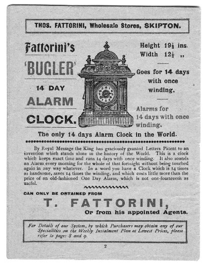 1912-Fattorini_Bugler_Alarm_clock_Advert