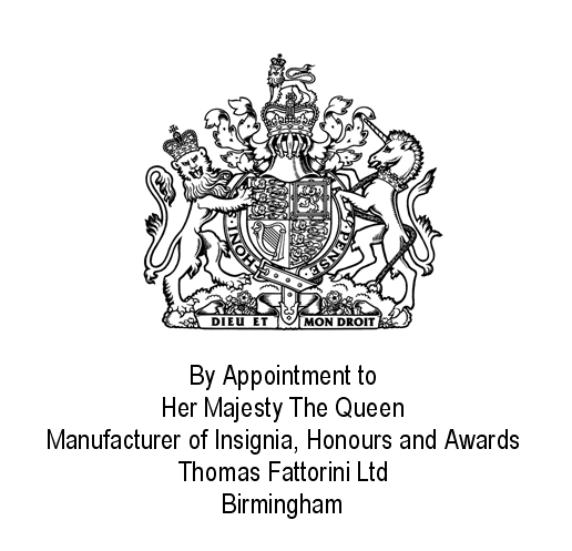 2008 Royal Warrant Thomas Fattorini Ltd Manufacturers of Insignia Honours and Awards