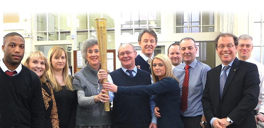 2012-Birmingham-office-staff-with-olympic-torch